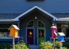 toth birdhouses and walkway