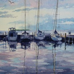 Connie Glowacki Watercolor Painting Door County